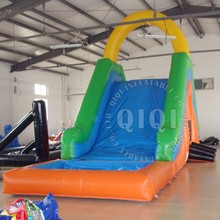 Interesting Plastic Pool Water Slide with Bouncer