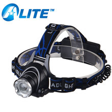 10W XM-L T6 LED Headlight Flashlight 3800 Lumens Zoom Rechargeable Headlamp For Hunting
