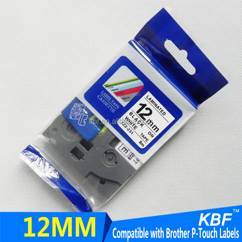 12mm Tape TZ2-231 compatible P touch TZ tape TZ-231 from KBF