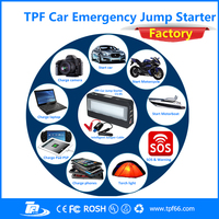 TPF brand 16200mah 12v lithium portable multi-function battery car booster engine jump starter