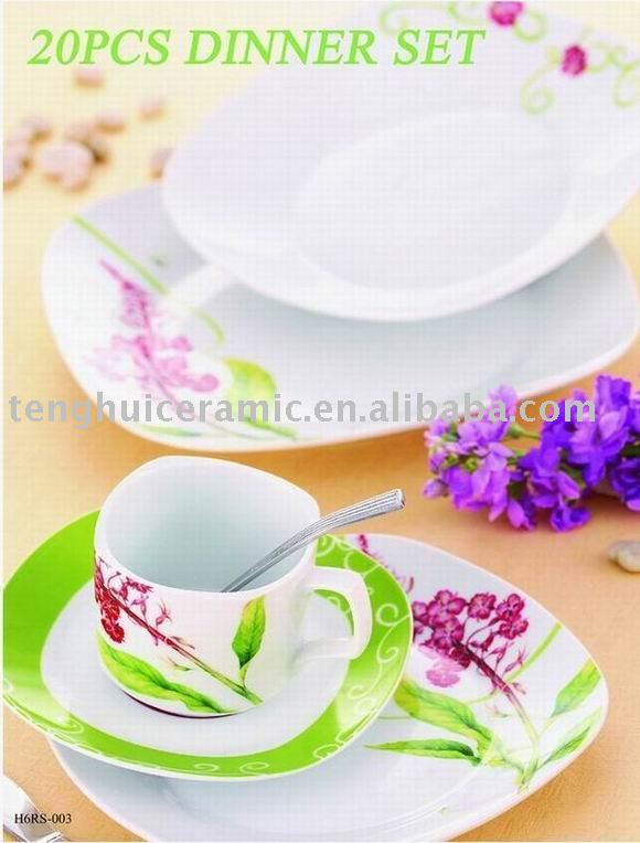square porcelain dinner plates with flower pattern ceramic tableware set buy ceramic tableware setsquare dinner tableware product on - Square Dinner Plates