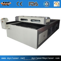 CO2 rf metal tube 150W Laser Cutting machine for Home Textile Table Cloth Garment Fabrics MC1325