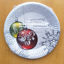 christmas series custom printed disposable paper plates for wedding