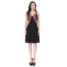 2018 New model fashion wholesale price hot new black dress