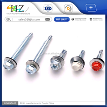 2017 DIN7504 self drilling screws SDS with EPDM washer best price