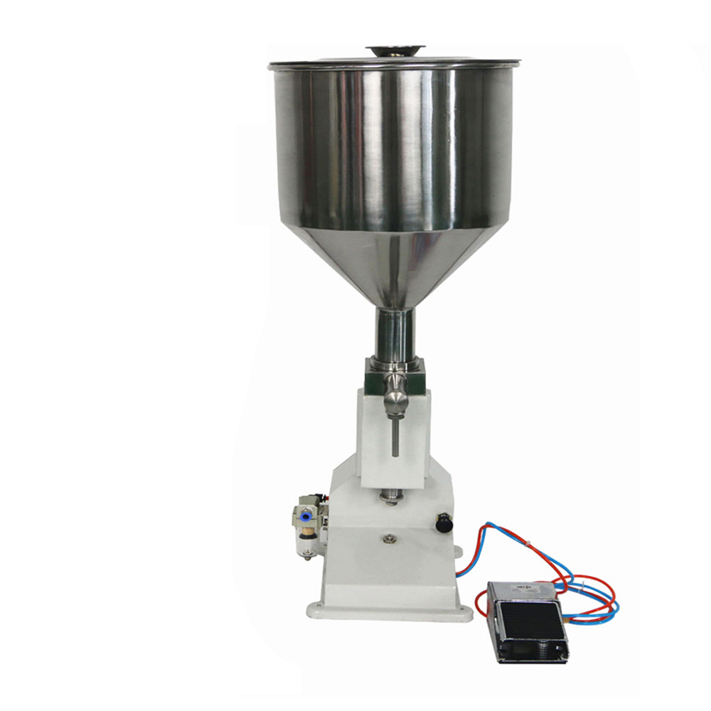 YS-<strong>A02</strong> Hot Selling Pneumatic Liquid Soap/Bath Foam/Tomato Paste/Honey Jar Filling Machine With Pedal Switch 5-50ml