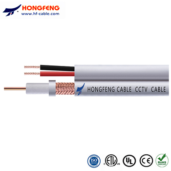 factory supply RG59  Coaxial cable with 2 power wire (RG59+2C)