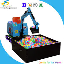 Guangzhou factory hot sale carnival games kids excavator