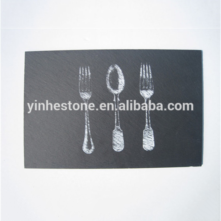 2017 new designed Eco-friendly slate service plate / tray / placemat
