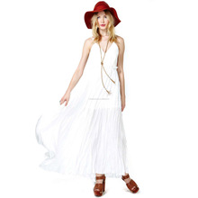Fashion Dress Wholesale On A Cloud Condole Belt Big White Skirt Dress Back Flag Ship For Store Solid Women Maxi Chiffon Dress