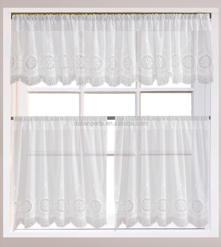 Cotton Shabby Style Lace Cafe Curtain