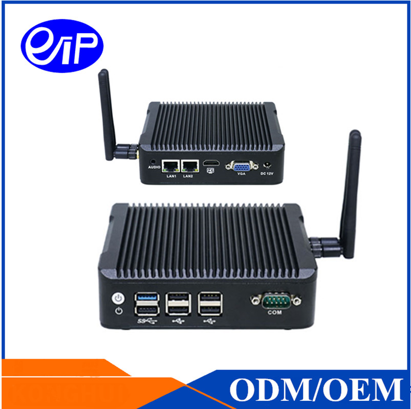 Fanless Baytrail J1900 Quad Core Mini PC Dual NIC with 6*USB and 1*COM High Performance NANO MINI PC