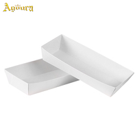 Custom self-deodorizing tofu ship shape boat carton box for fast food,disposable boat-shaped paper carton for potato chips