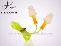 HK-2002B Hucong silicone earplug with cord