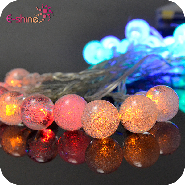 Led Solar Copper String Lights Fairy Bubble Ball Decorative Lighting For Indoor Outdoor