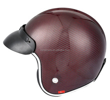 Red Color Models Half Face Motorcycle Helmet Carbon Fiber Helmet