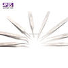 Wholesale beauty tool stainless steel eye lashes tweezers for eyelash extension