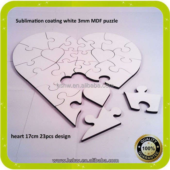 Sublimation Wood Jigsaw Puzzles For Kids