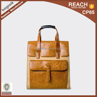 HD10027 Reshine New China Products Canvas With Leather Designer Tote Bags For Men Office Handbag