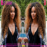 Wholesale Afro Kinky Curly Full Lace Wigs 2016 High Quality Adjustable Cap Indian Curly Afro Wigs For Black Women