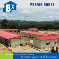 low cost 3 storeys steel frame house