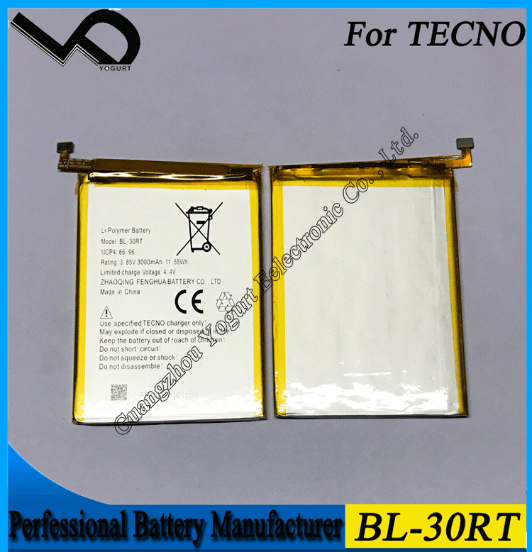 Guangzhou Asia market lithium ion battery manufacturers for Tecno BL-30RT battery