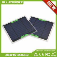 ALLPOWERS 6V 500mAh 3W Mini Polycrystalline Solar PET Panel Small Solar Power for Solar System Solar Charger