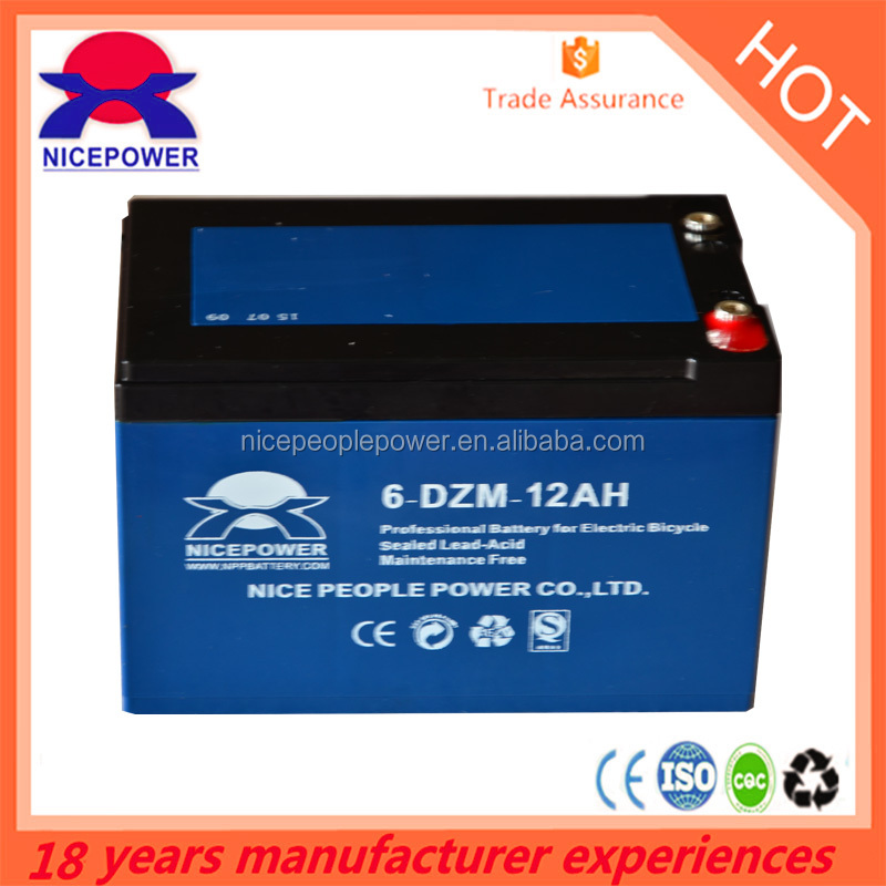 6-dzm-12 12v high quality rechargeable battery for e-bike