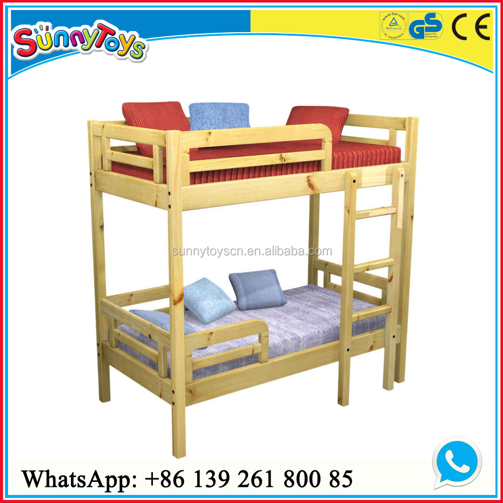 Wooden Kids Double Desk Bed Children Furniture Kids Double