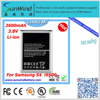 for Samsung Galaxy s4 Replacement battery mini 9500 mobile phone 3.8v 1900mah li-ion battery factory selling directly