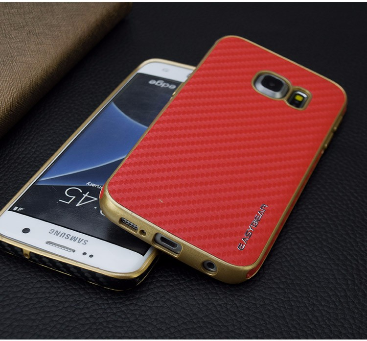 New Arrival Shockproof PU Hybrid Mobile Phone Shell Cover For Samsung S7 edge Wholesale