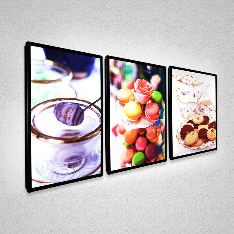 indoor ice cream slim lightbox sign lightbox <strong>advertising</strong> a1 lightbox