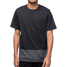 100% Polyester Dri Fit Blank Two Tone T-Shirts With Pocket Wholesale