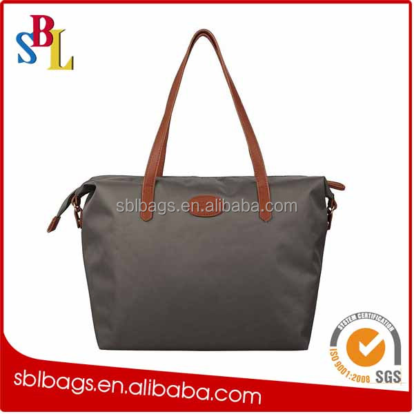 2016 foldable black nylon tote bag & foldable nylon eco bag & nylon foldable shopping bag