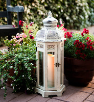Wedding Decoration white wooden lantern candle holder