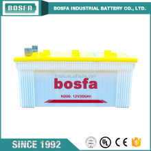 Bosfa dry car batteries series 12v 200ah automobile car battery for auto starting battery