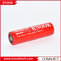 Enook 18650 2600mAh 40amp aw IMR rechargeable battery 18650 li-Mn battery pk LG he4 ,huanyu , Samsung-25r battery