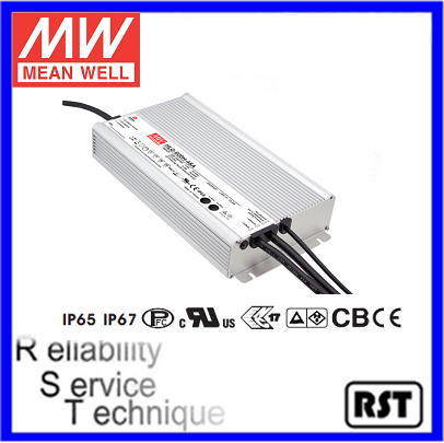 HLG-600H-12 600W 12V 40A made in Taiwan Meanwell waterproof electronic led driver