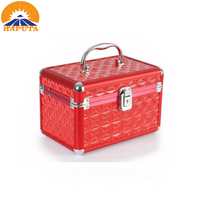 2017 Hot Sale Red Aluminum Cosmetic Case with Trays