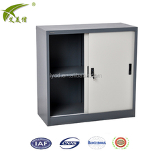 Malaysia Executive Office Furniture Half Metal Storage Filing Cabinet Steel Sliding Door Cupboard Cabinet