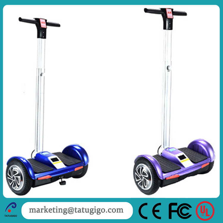 High quality 2016 big tire 10 inch wheel telescopic handle bar 2 wheel electric chariot with remote key