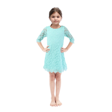 Special Occasion Children Clothes Lace Baby Girl Party Dress