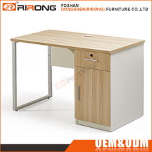Modern office furniture desks metal office computer steel table with locking drawers and cabinet