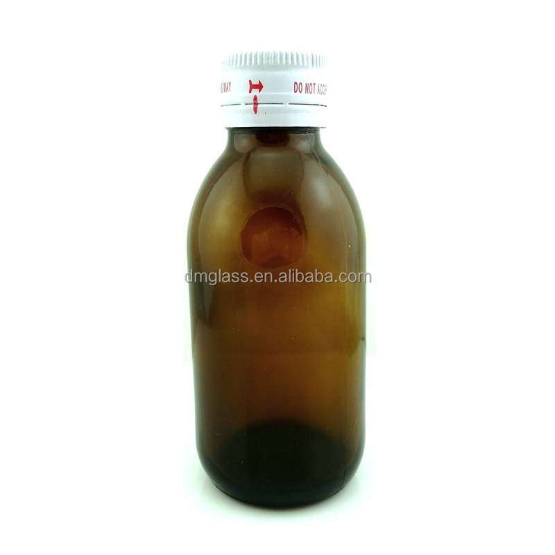 100mL Amber Glass Medicine Bottles for Cough Syrup