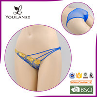 professional lingerie gloden sexy new design sexy g-string panty girl's underwear