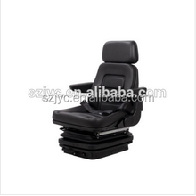 Machinery suspension height weight backrest adjustable PU leather car seat YHF-02