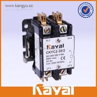 UL certificate 12v air conditioner 30A FLA 2 pole HVAC contactors