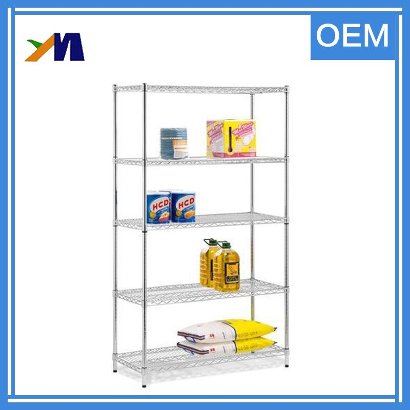 Adjustable medium-duty metal storage wire rack