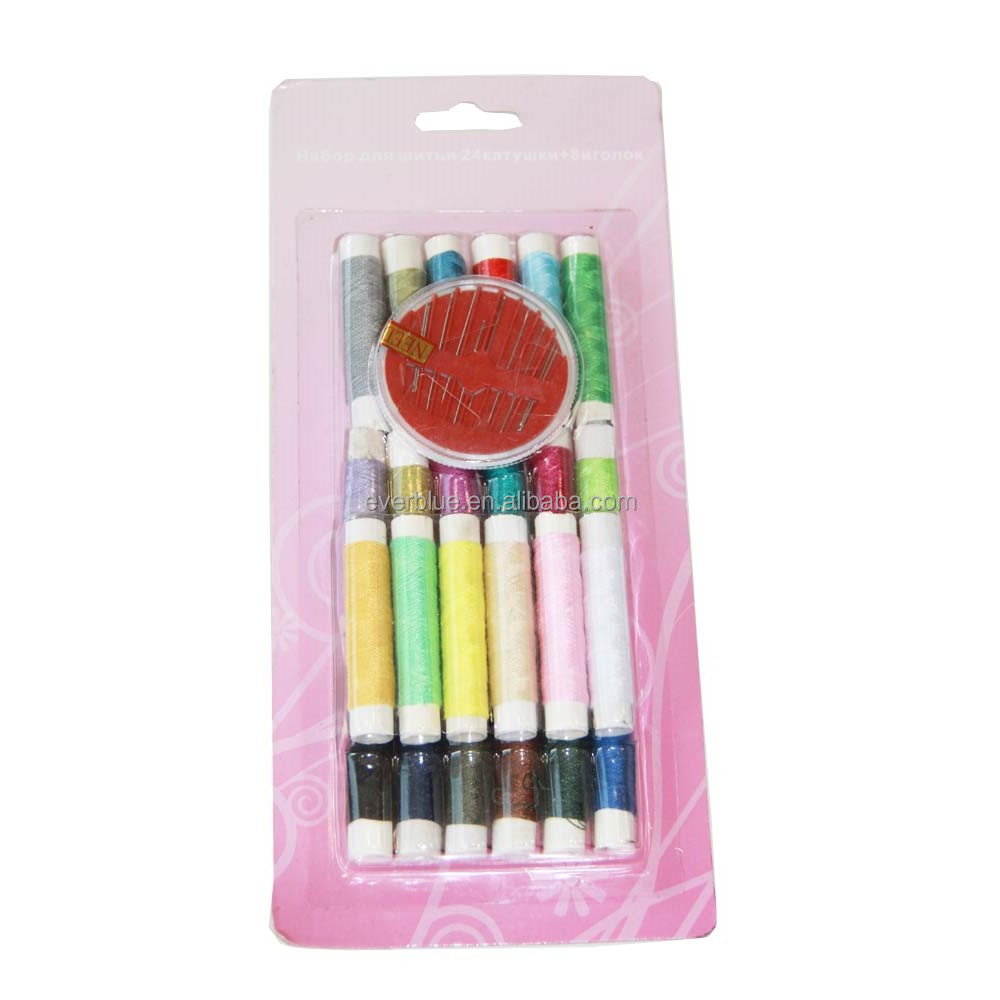 25pcs sewing kit 25 colors sewing thread