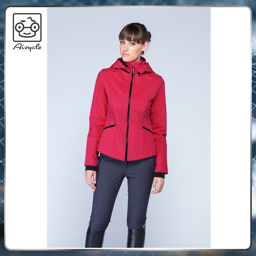 Red Horse racing jackets women 2017 winter soft shell coat